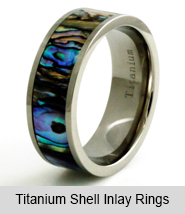 Titanium Shell Inlay Rings