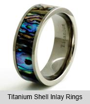 Titanium Shell Inlay Rings