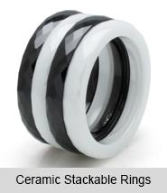 Ceramic Stackable Rings