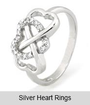 Silver Heart Rings