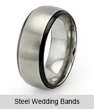 Steel Wedding Bands