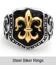 Steel Biker Rings