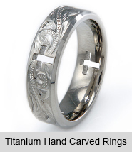 Titanium Hand Carved Rings