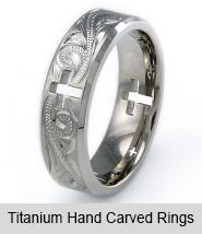 Titanium Hand Carved Rings