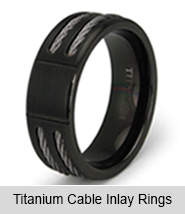 Titanium Cable Inlay Rings