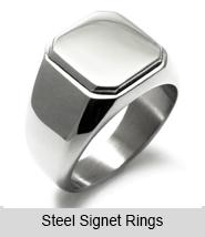 Steel Signet Style Rings
