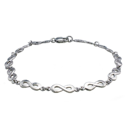 other i silver symbol slave hand infinity ring fashion women chain bracelet