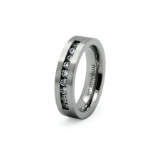 Titanium Cubic Zirconia Ring