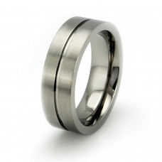 Matte Titanium Grooved Center Ring