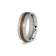 Two Tone Stainless Steel Wedding Band