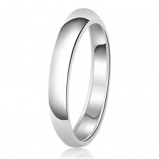 3mm Classic Sterling Silver Plain Wedding Band Ring
