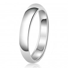 4mm Classic Sterling Silver Plain Wedding Band Ring