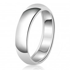 7mm Classic Sterling Silver Plain Wedding Band Ring