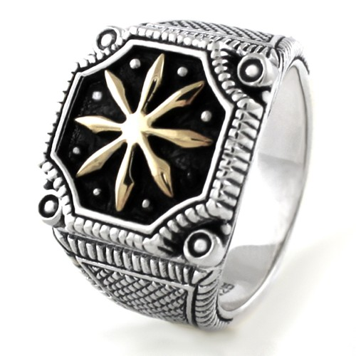 925 Sterling Silver King of the Sun Ring