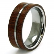 Wood Inlay Rings (6)